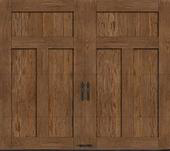 Custom Faux wood Garage doors