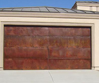 Custom Copper Garage Doors Sedona AZ