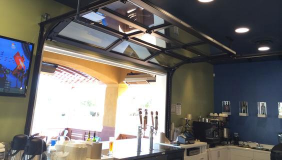 Phoenix AZ custom glass garage doors