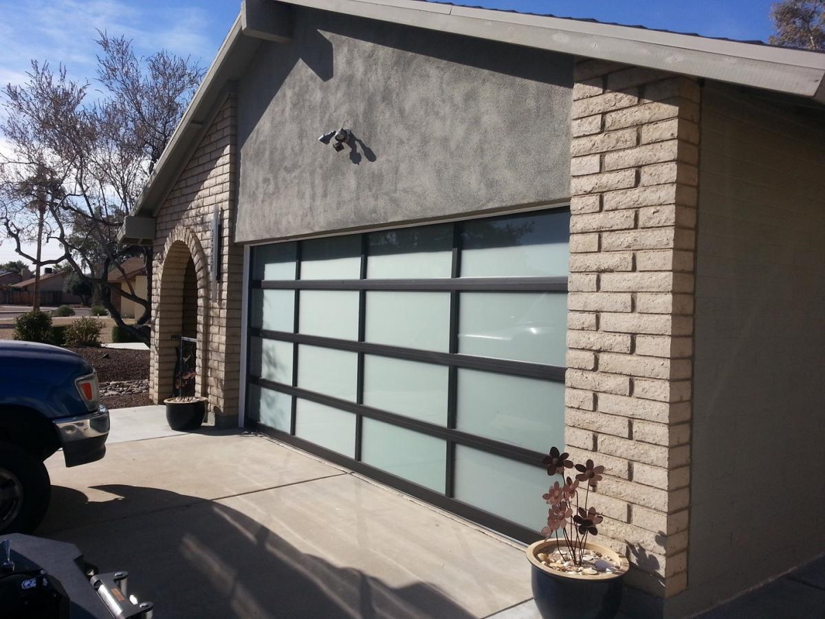 Custom glass garage doors scottsdale az call now 602 for Garage door scottsdale