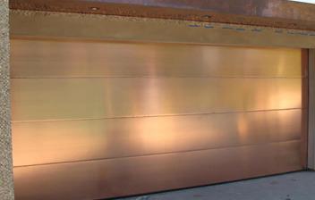 Custom Copper Garage Doors Paradise Valley Az