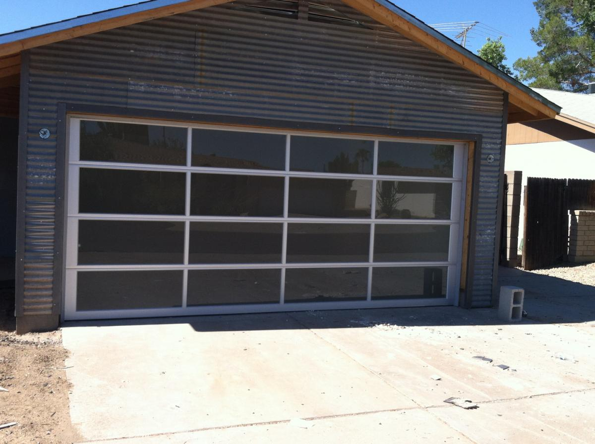 Custom glass garage doors paradise valley az call now for 1 5 car garage door
