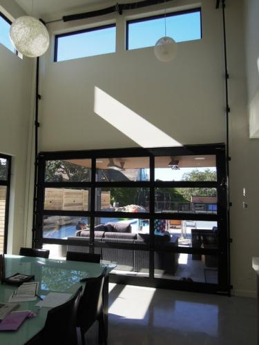 Custom Modern Glass Garage Doors